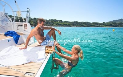 Sailing Yacht for Charter in Croatia on board Bavaria 37 - Swim Platform