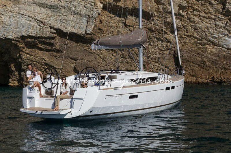 Jeanneau Sun Odyssey 479 for rent in Croatia with Europe Yachts Charter - Sailing Boat Charter Croatia