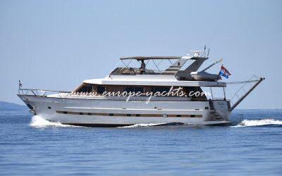 Luxury Motor Yacht Charter Croatia on board a superyacht Blanka from Split Croatia