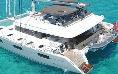 Lagoon 620 luxury catamaran charter Greece