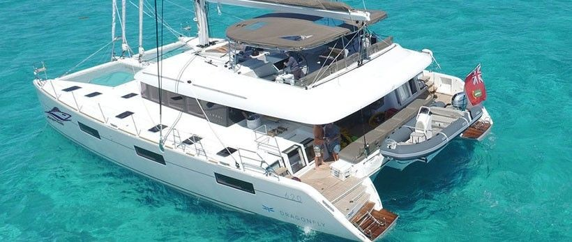 Lagoon 620 luxury catamaran charter Greece