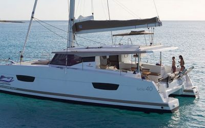 Lucia 40 Catamaran Charter Greece