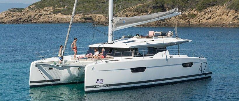 Fountaine Pajot Saona 47 Catamaran Charter Greece