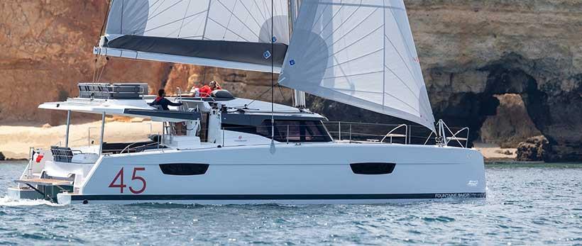 Fountaine Pajot Elba 45 Catamaran Charter Greece Main