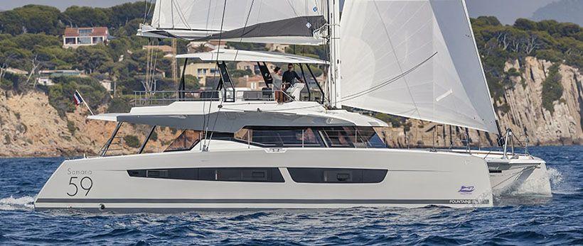 Samana 59 Catamaran Charter Greece Main