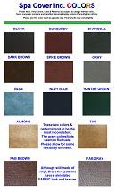 Spa cover vinyl colors