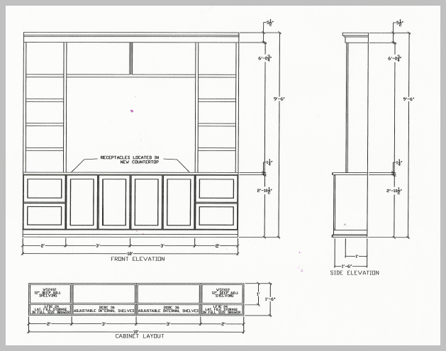 Cabinet Design Drawing