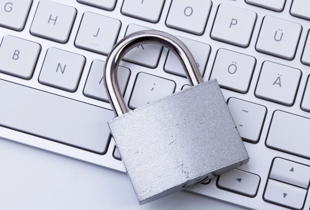 Padlock laying on keyboard
