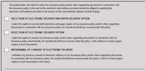 Image of E-Sign customer opt in/out choices
