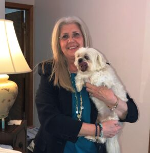 Jan Pell pictured with her dog Jake