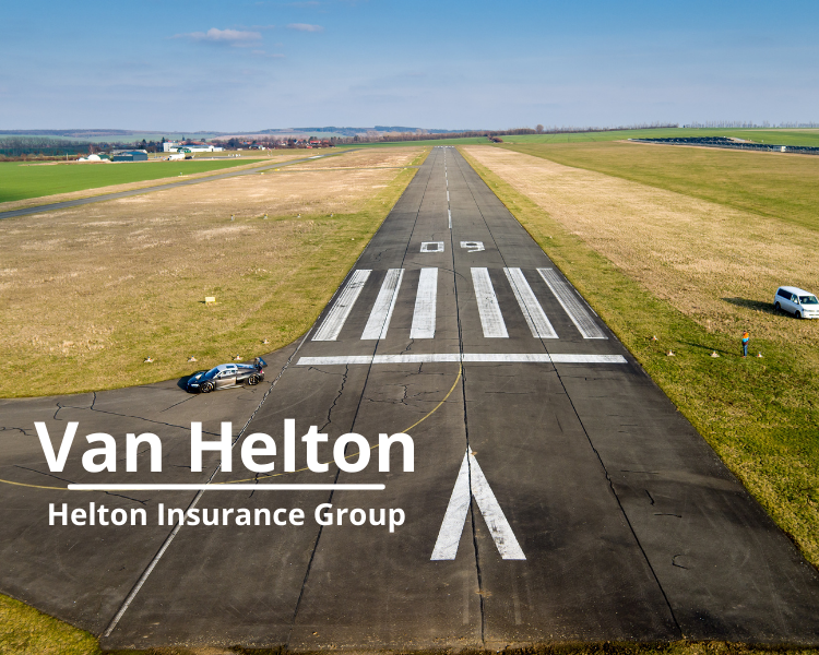 Picture of an air strip as a title page for Van Helton spotlight video