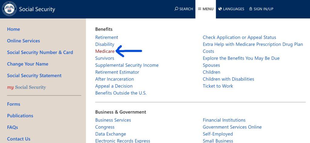 Applying for Medicare Part A & B Online
