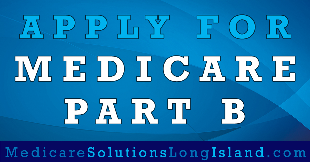 apply for Medicare Part B