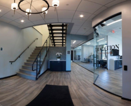 Cool Offices: Financial firms transform single-tenant building into fit for four