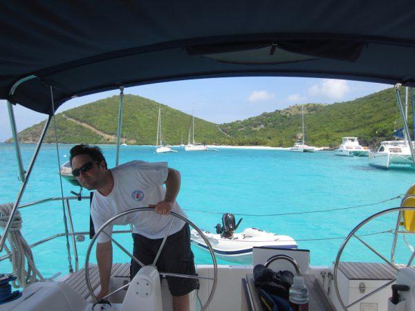 Rob Wright, sailing Virgin Islands