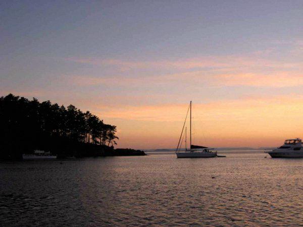 Boat at Sunset Wright Yachts