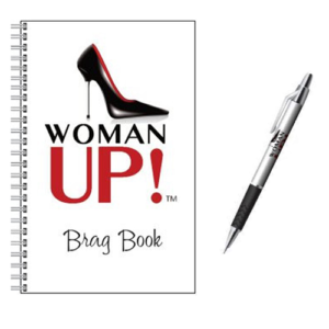 WOMAN UP! Brag Book & Pen