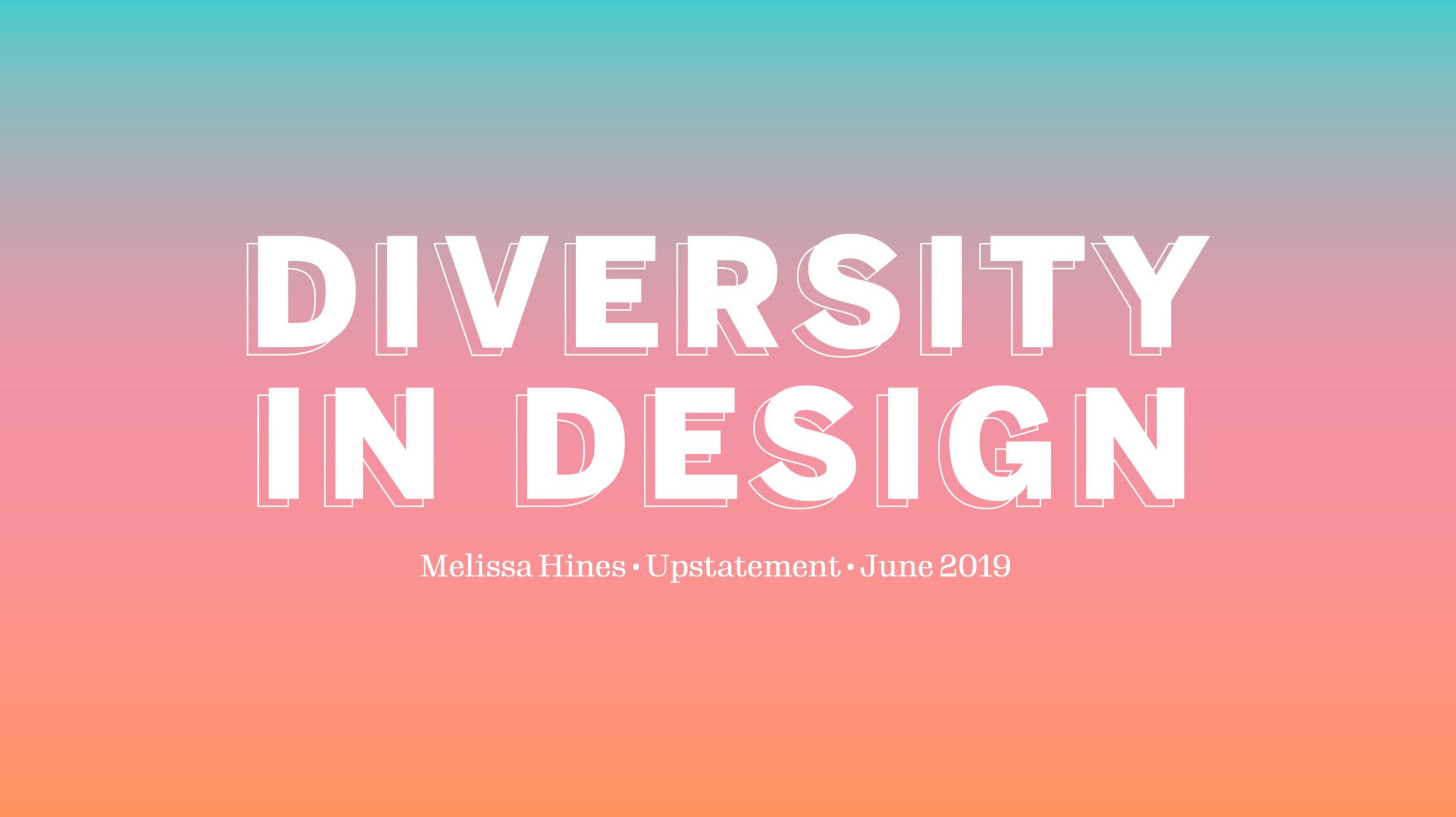 Diversity In Design cover slide