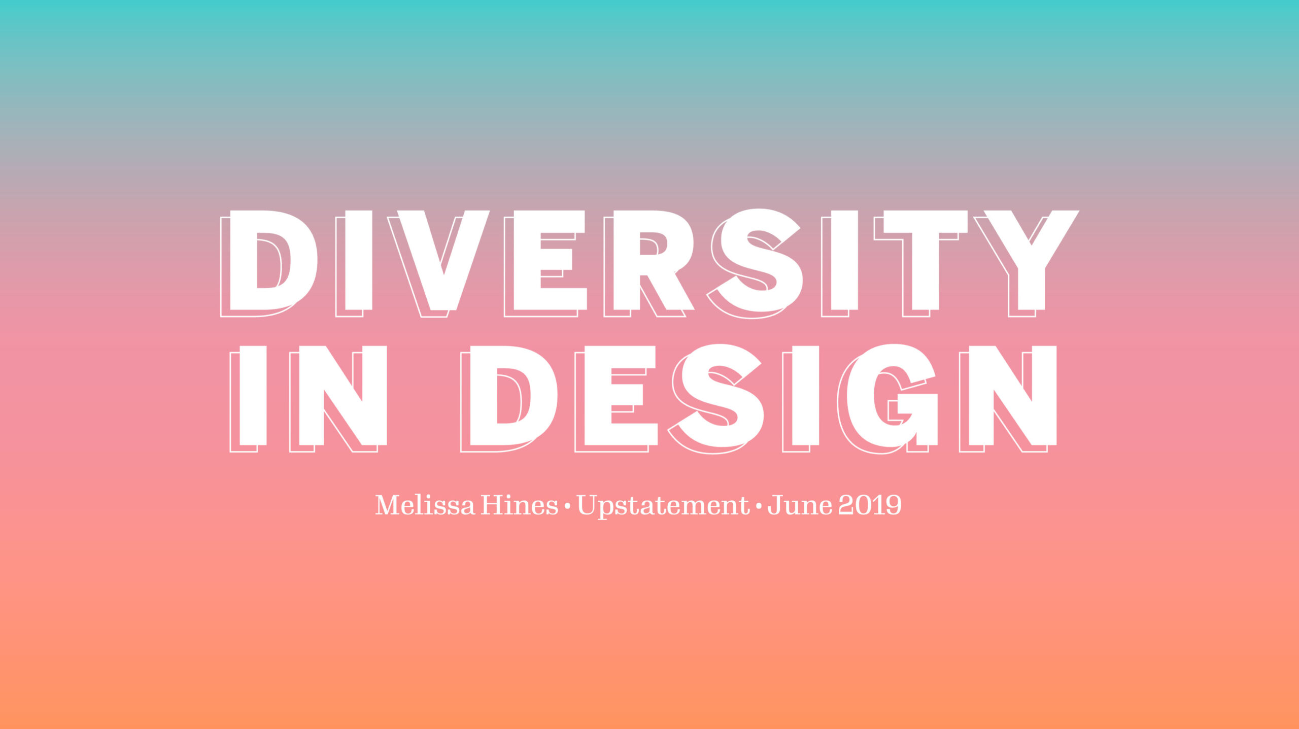 Diversity In Design cover slide