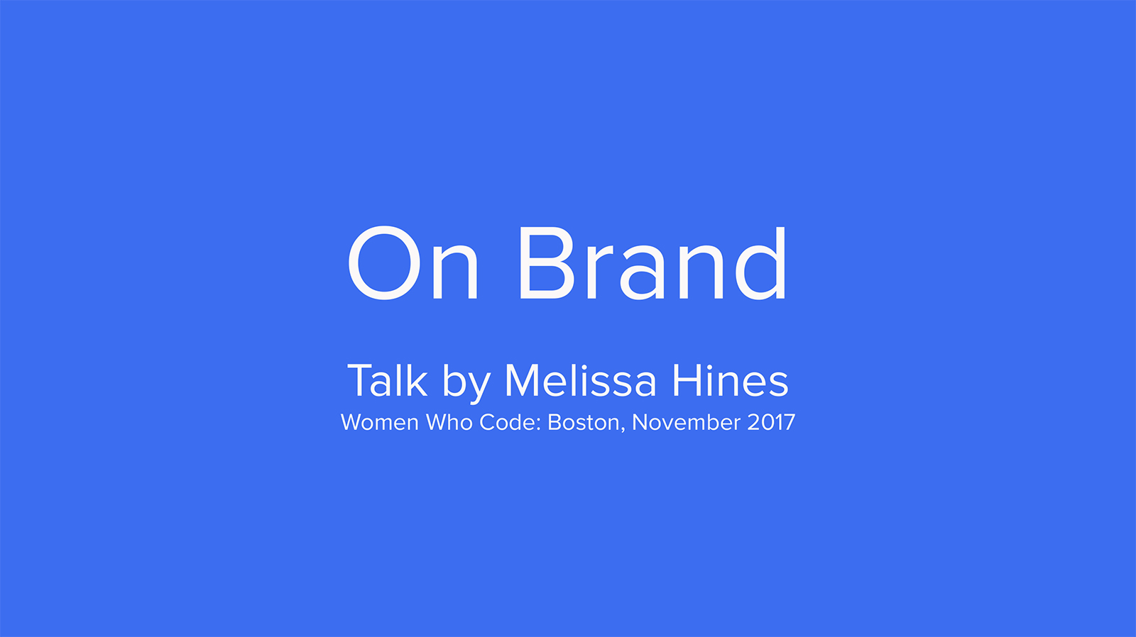 On Brand Design Talk Cover