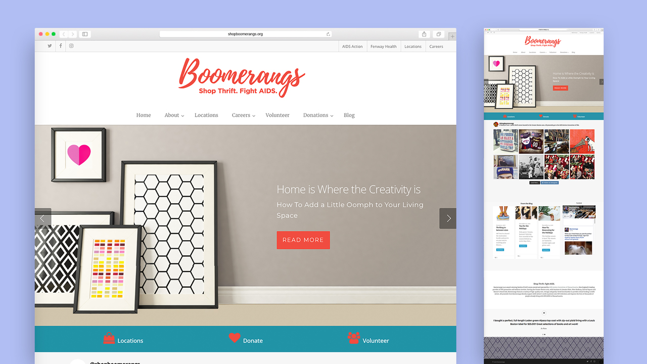 Boomerangs Website Redesign