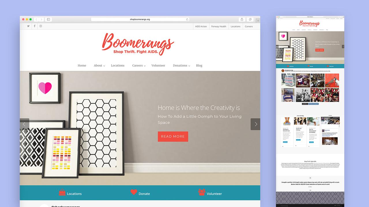 Boomerangs Website Redesign