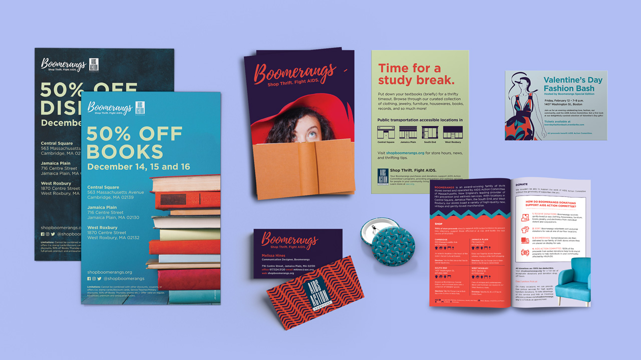 Boomerangs Print Collateral