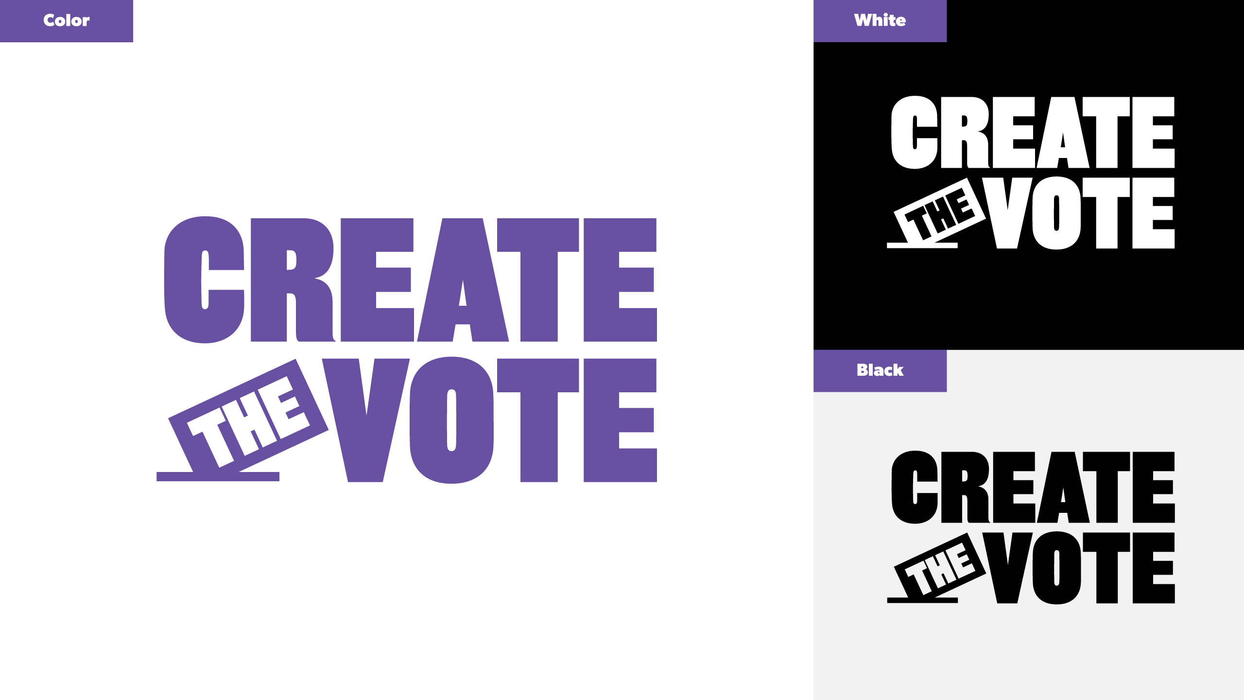 Create the Vote logo suite