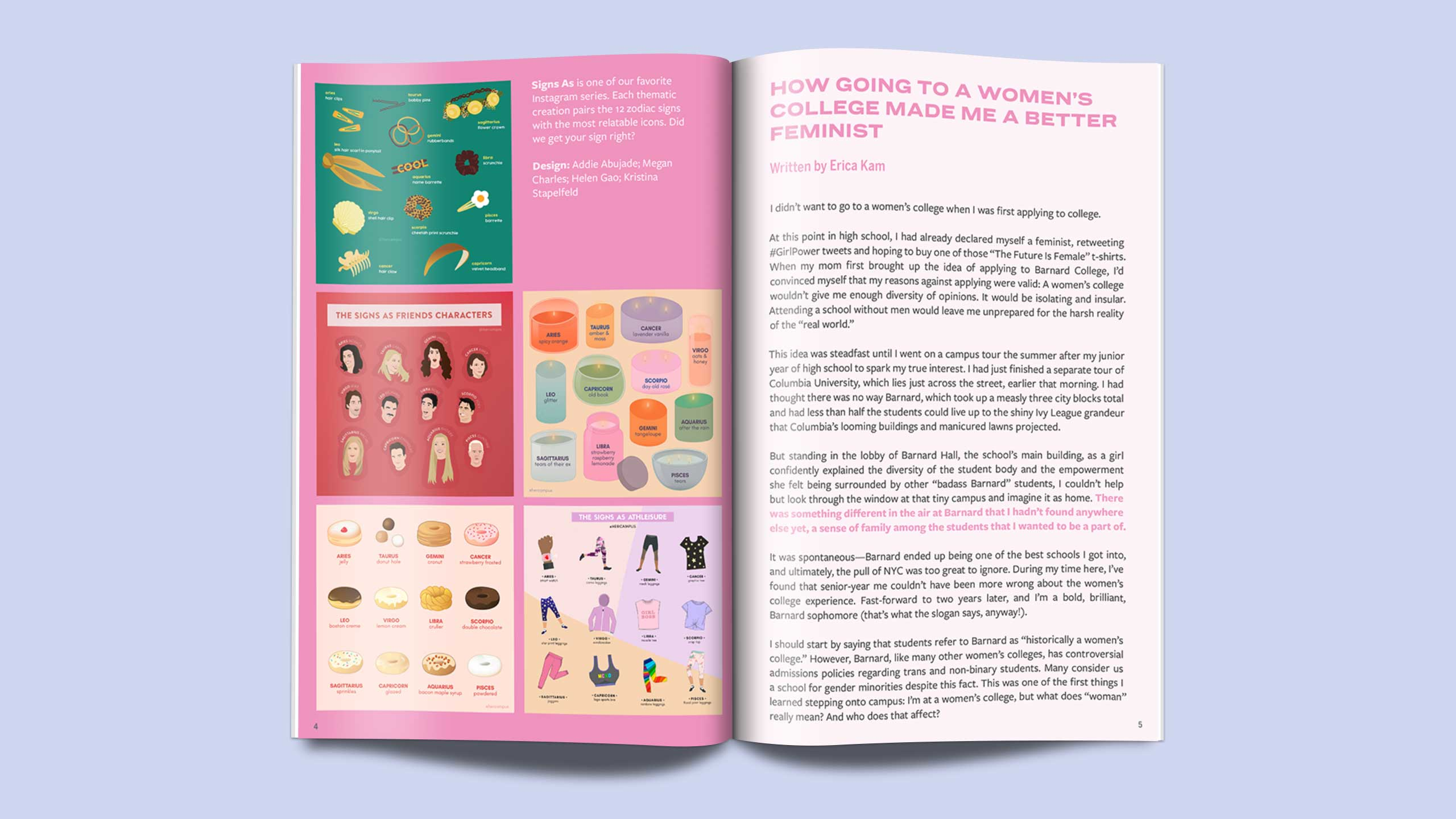 Her Campus Creative Zine Spread 2