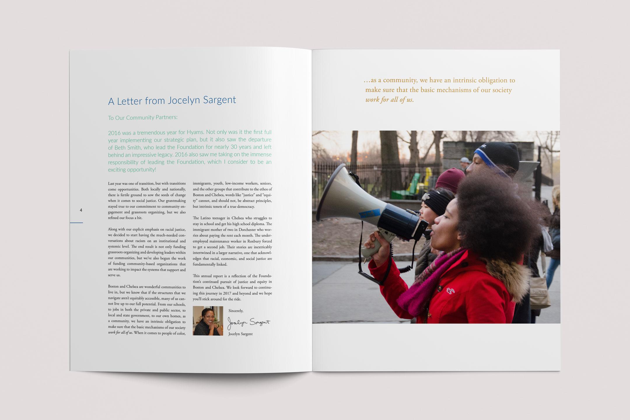 Hyams Foundation Annual Report Spread 2