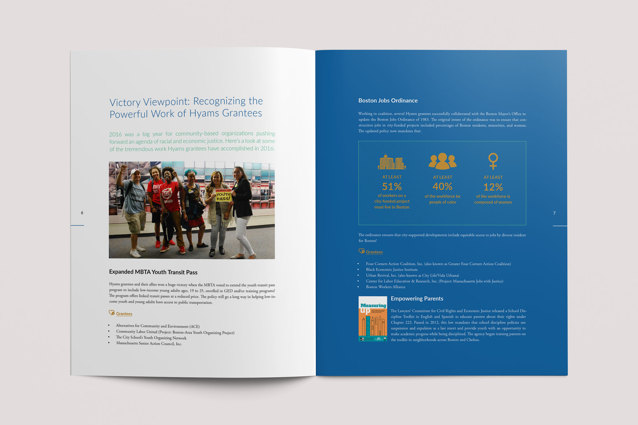 Hyams Foundation Annual Report Spread 3