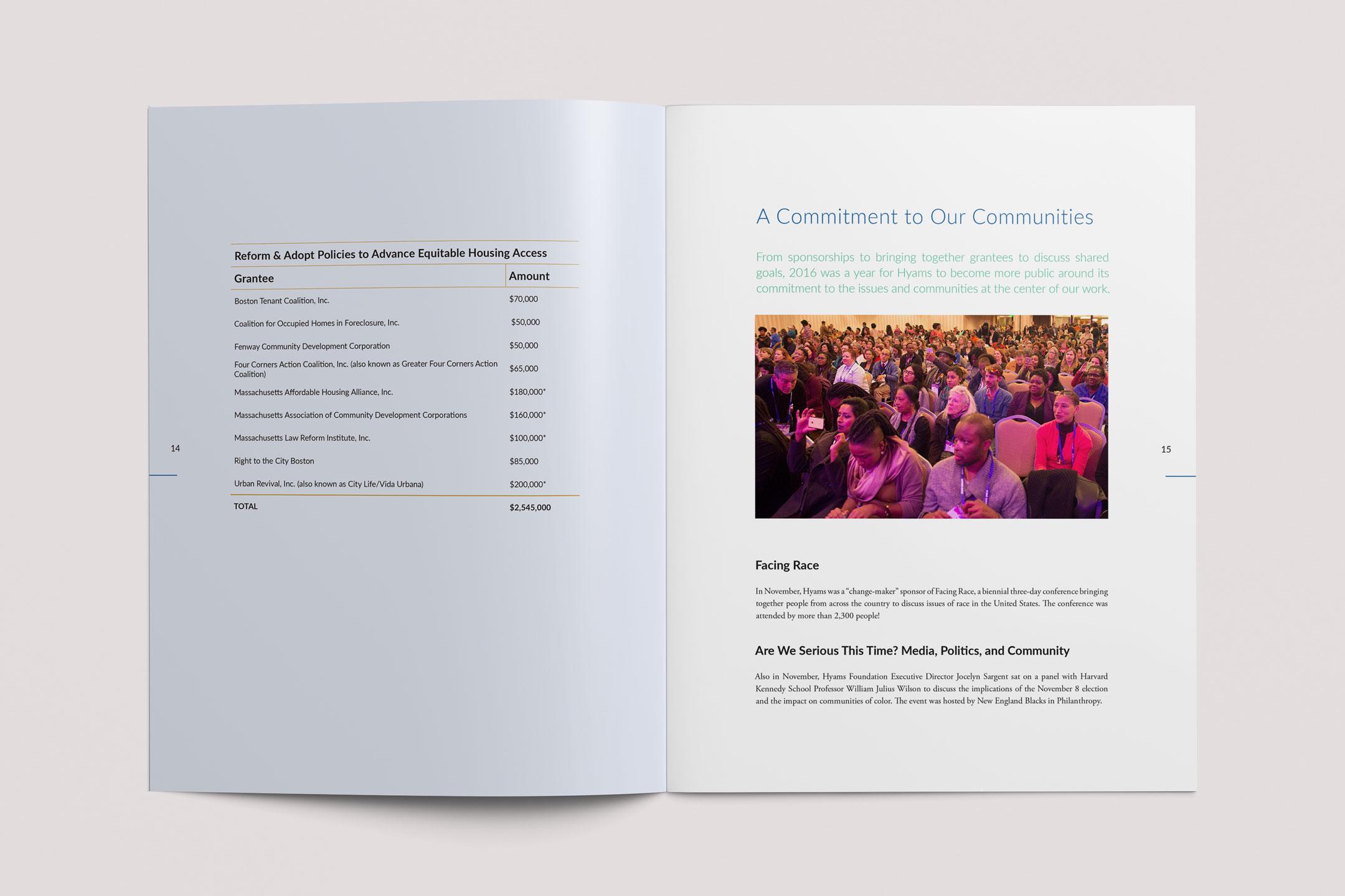 Hyams Foundation Annual Report Spread 5