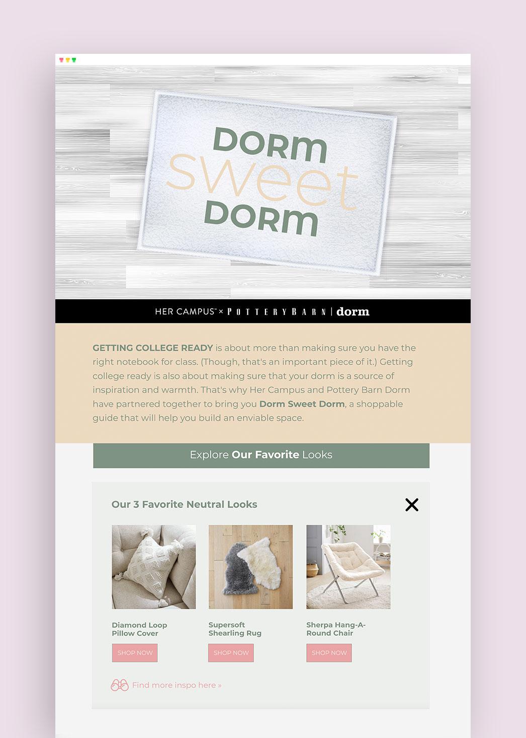 Dorm Sweet Dorm Content Hub