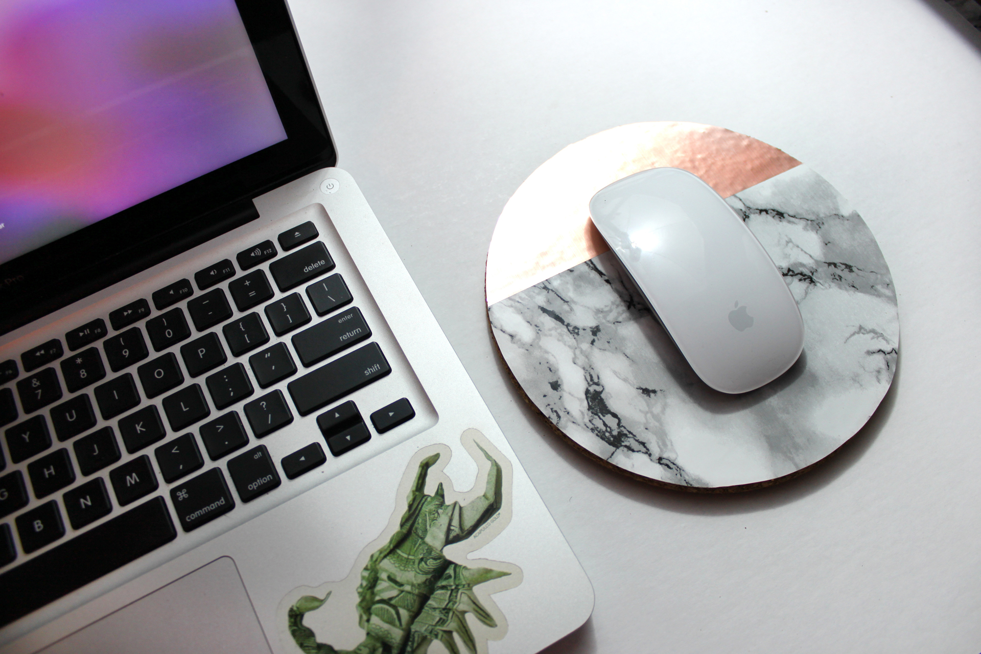 DIY MARBLE & COPPER MOUSE PAD