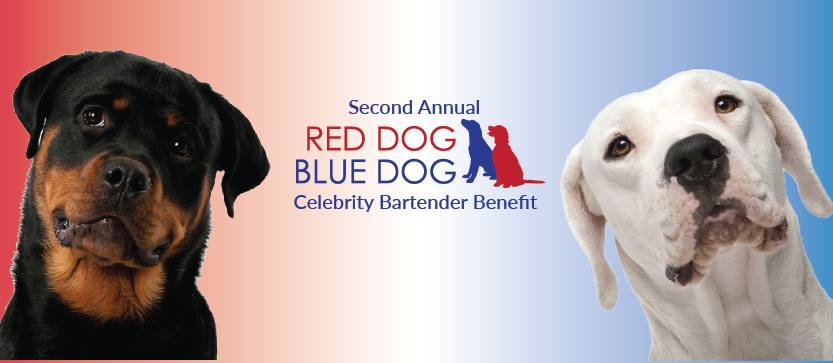 Red Dog Blue Dog Bartends for Rescues