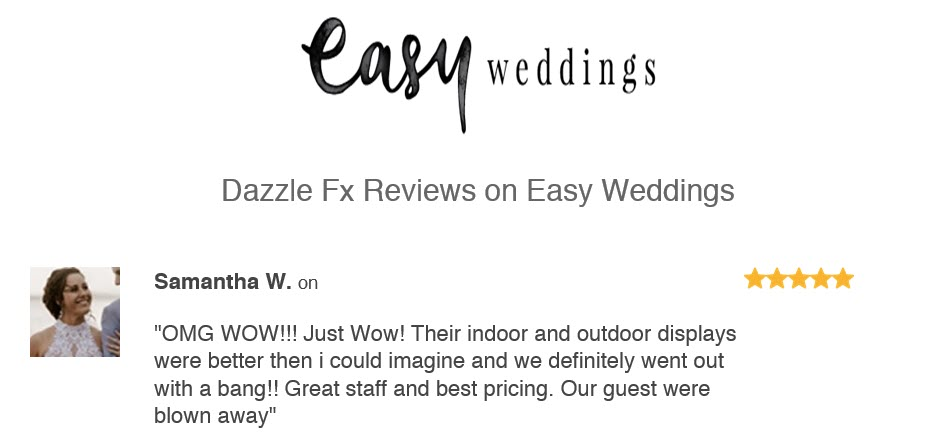Wedding Fireworks Review