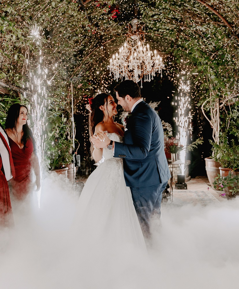Wedding First Dance with Dry Ice