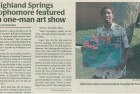 Article: Sophomore Featured in One-Man Art Show