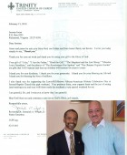Letter: Rev. Dr. Jeremiah A. Wright Jr.