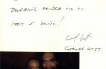 Letter: Dr. Cornel West