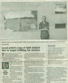 Article: Local Artist Leap of Faith