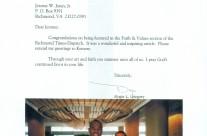 Letter: Judge Roger L Gregory