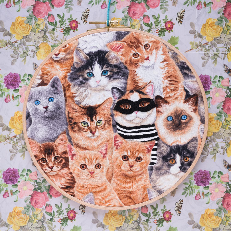 Cat Burglar embroidery