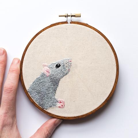 Custom Embroidered Pet Portraits