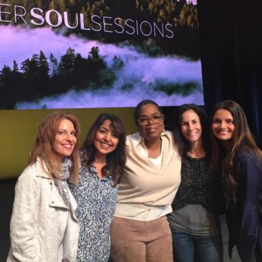 Sandra Fazio with Oprah, Dr. Shefali and Friends