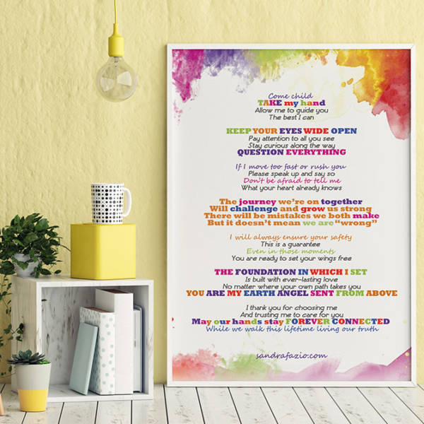 Sandra Fazio - Canvas Come Child Poem