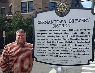 Germantown historical brewery marker
