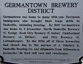 Historical Beer Marker Nashville, TN