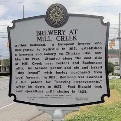 Mill Creek Brewery Marker