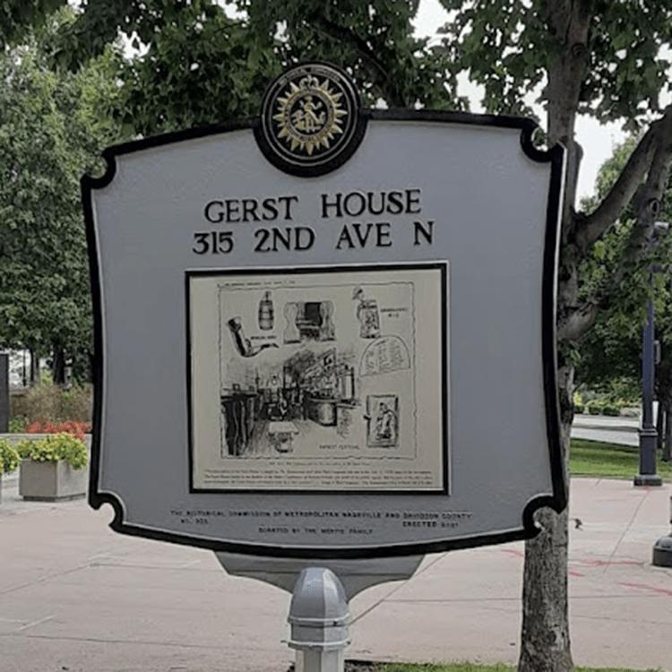 Gerst House Nashville Historical Marker